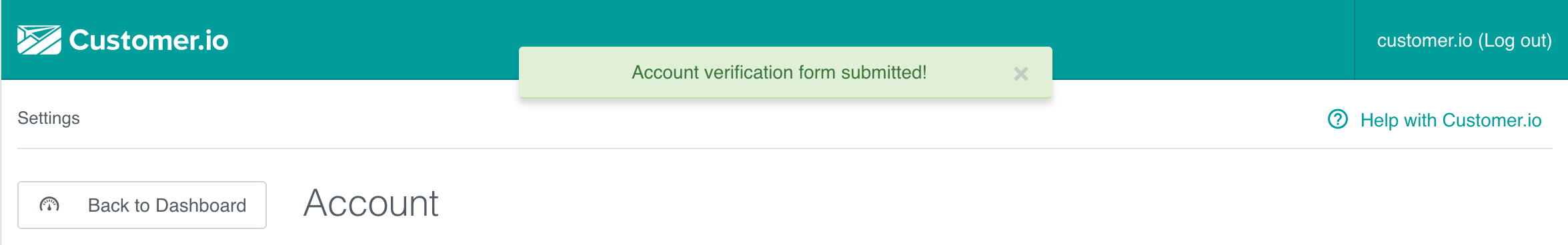 Account Verification - Success